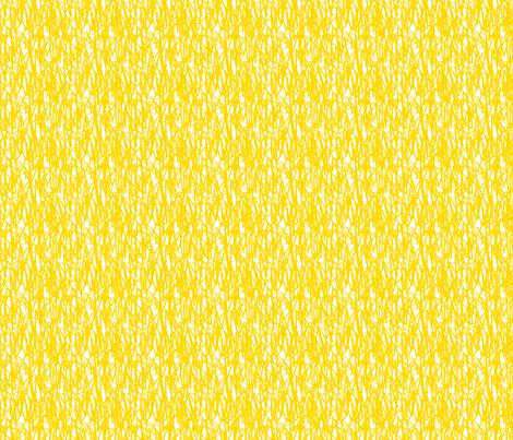 Yellow graffiti / scrawl-FFD900 fabric by chez_fraisichou on Spoonflower - custom fabric