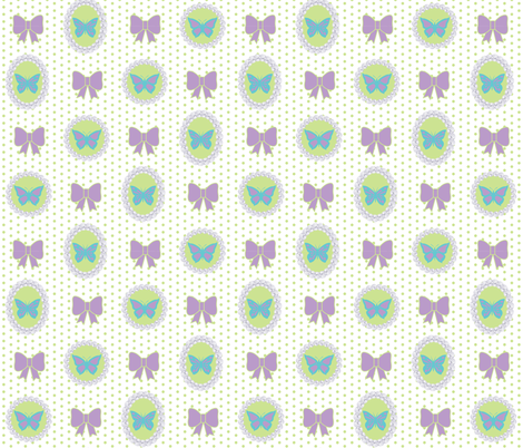 Butterfly Bows fabric by pearl&phire on Spoonflower - custom fabric