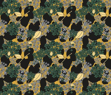 In Silk It Sleeps fabric by seesawboomerang on Spoonflower - custom fabric