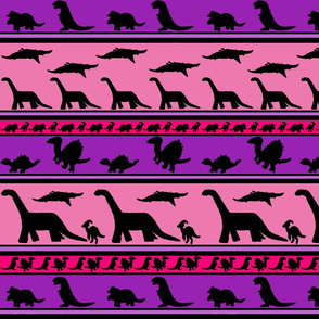 Dinosaur stripes purple pink