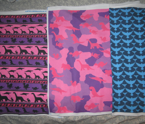 Dinosaur stripes purple pink small