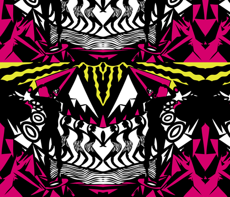 Tribal Punch fabric by jazmeen on Spoonflower - custom fabric