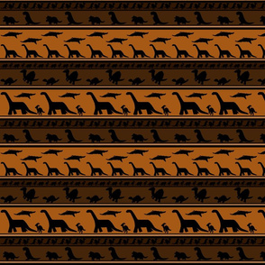 Dinosaur stripes browns small