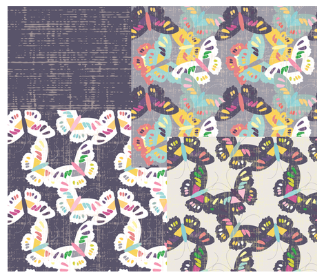 Butterflies - Coordinates 2015 fabric by owlandchickadee on Spoonflower - custom fabric