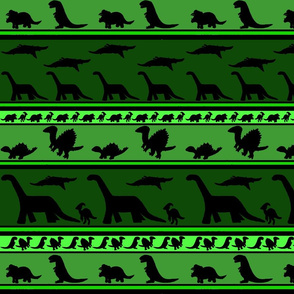 Dinosaur stripes green