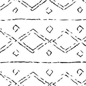 Kilim Painted Lines
