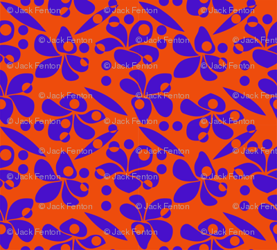 Frangipani _rain_blue_orange