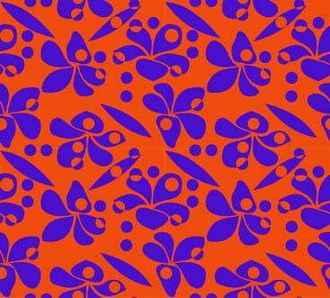 Frangipani _rain_blue_orange fabric by malolo on Spoonflower - custom fabric