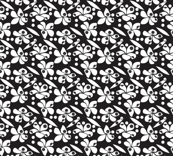 Frangipani_rain_white_on_black fabric by malolo on Spoonflower - custom fabric