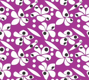 Frangipani_rain_purple_and_black fabric by malolo on Spoonflower - custom fabric
