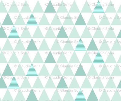 Mint Striped Triangles