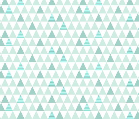 Mint Striped Triangles fabric by kimsa on Spoonflower - custom fabric
