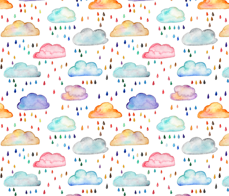 Rainclouds fabric by emeryallardsmith on Spoonflower - custom fabric