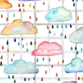 Rainclouds with grid