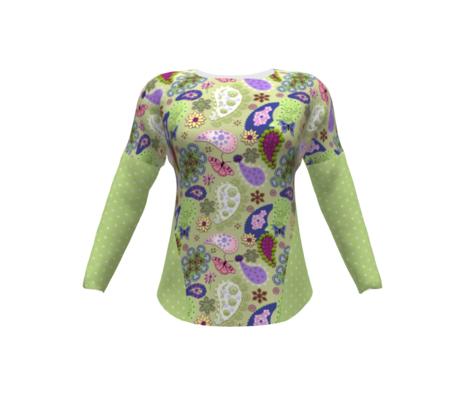 Butterfly Meadow Flowers - Green
