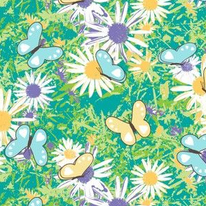 Butterflies Love Wild Spring Daisies