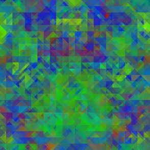 Dark Green and Blue Mosaic Texture