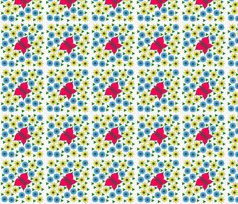 Butterfly_Garden_butterfly-in-the-centre fabric by france_nadeau on Spoonflower - custom fabric