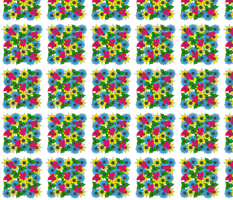 Butterfly_Garden_all-in-a-square fabric by france_nadeau on Spoonflower - custom fabric