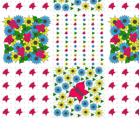 Butterfly_Garden fabric by france_nadeau on Spoonflower - custom fabric