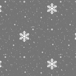 Snowflakes, winter