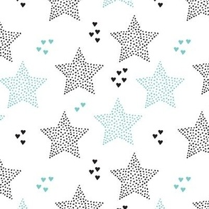 Twinkle twinkle little star cute baby nursery or christmas theme print in black white and blue night