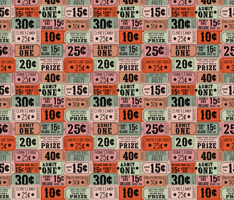 State Fair Tickets fabric by laine_and_leo on Spoonflower - custom fabric