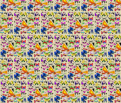 Papillons fabric by mountainofdreams on Spoonflower - custom fabric