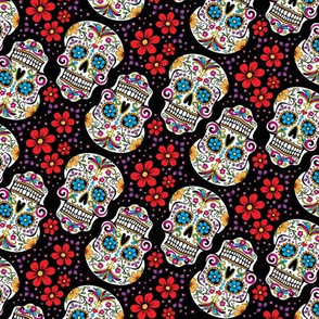 Sugar Skulls Day Of The Dead