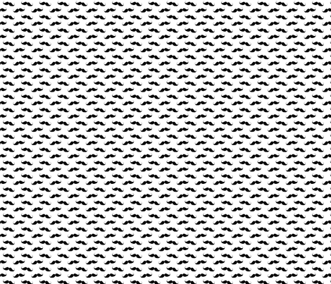 Mustache Pattern fabric by furbuddy on Spoonflower - custom fabric