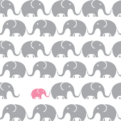 Cute Baby Pink Elephant