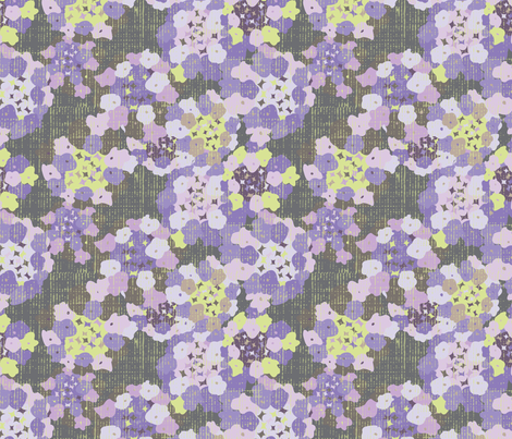 Lantana - Purple fabric by owlandchickadee on Spoonflower - custom fabric