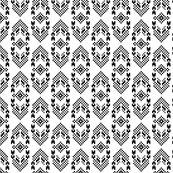 Native American Digital Bead Pattern Black and White