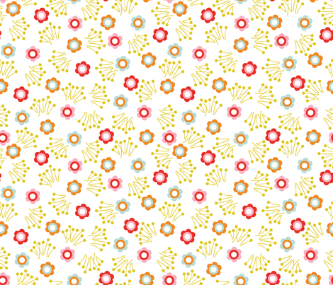 Flower Dot fabric by oliveandruby on Spoonflower - custom fabric
