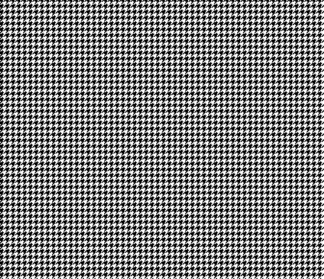Houndstooth black and white fabric by furbuddy on Spoonflower - custom fabric