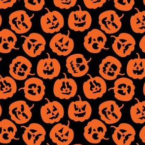 Cute and Funny Halloween Pumpkin Pattern