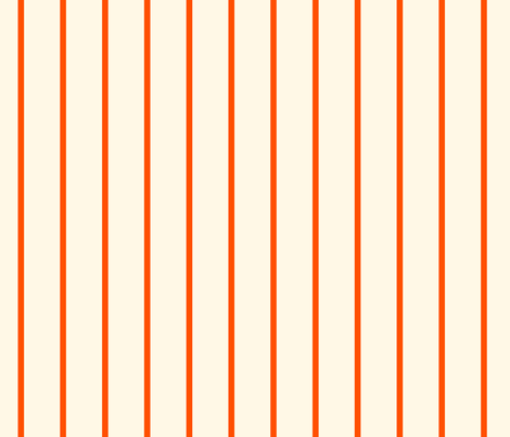 Marquise Orange and Cosmic Latte Stripe  fabric by peacoquettedesigns on Spoonflower - custom fabric