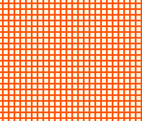 Marquise Orange and Cosmic Latte Gingham  fabric by peacoquettedesigns on Spoonflower - custom fabric