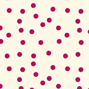 Cupid Polka Dots on Cosmic Latte