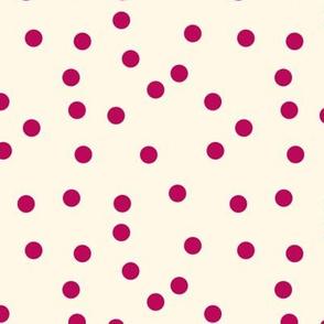Cupid Polka Dots on Cosmic Latte