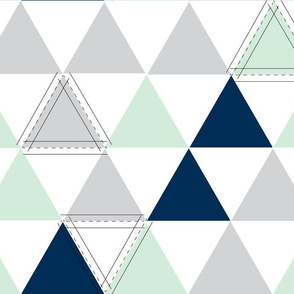 Hamptons Triangles - Mint