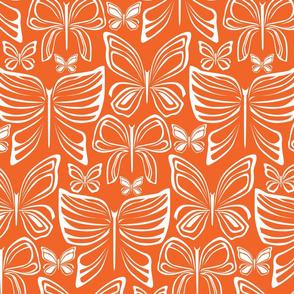 Flying Fancy Butterfly Garden_Linear Orange Lg