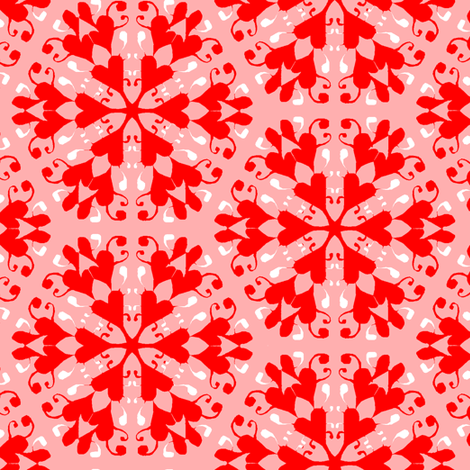 Snowflake Hearts fabric by eclectic_house on Spoonflower - custom fabric