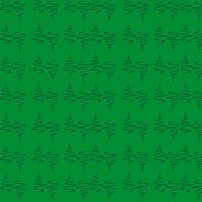 KiniArt Green Christmas Trees