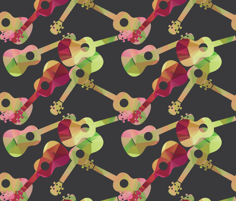 Ukes! 2 fabric by owlandchickadee on Spoonflower - custom fabric