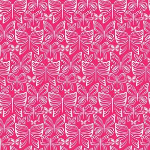 Flying Fancy Butterfly Garden_Linear_Pink