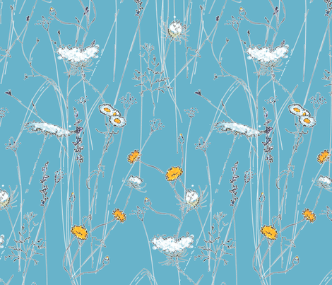 Lovely Weeds fabric by anntuck on Spoonflower - custom fabric