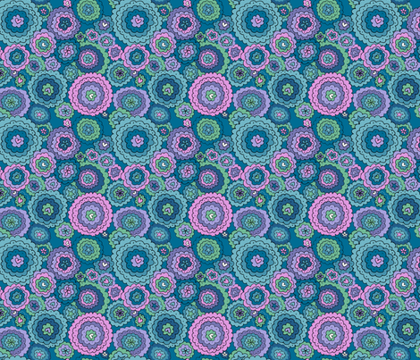 Floral Fantasy (pink) fabric by karapeters on Spoonflower - custom fabric