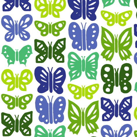 Butterfly family (05) fabric by analinea on Spoonflower - custom fabric