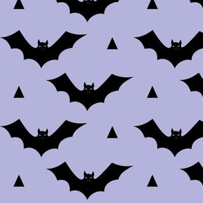bat pastel purple